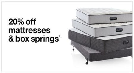 20% Off Mattresses and Box Springs from Crate & Barrel