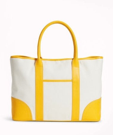 Brooks Brothers Leather-Trimmed Canvas Tote Bag ($198)