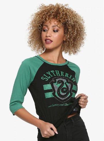 Harry Potter Slytherin Reversible Raglan Girls T-Shirt