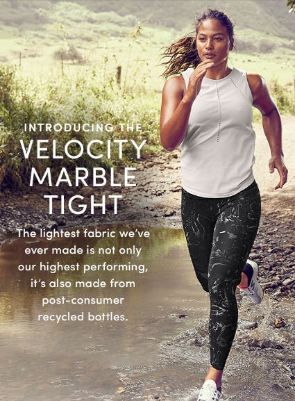 Introducing the Velocity Marble Tight from Athleta