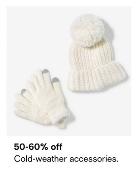 50-60% Off Cold-Weather Accessories from macy's