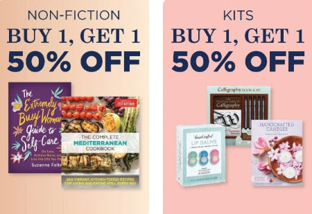 B1G1 50% Off Non - Fiction & Kits from Books-A-Million