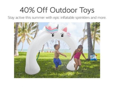 40% Off Outdoor Toys