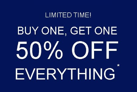 BOGO 50% Off Select Regular Price Styles