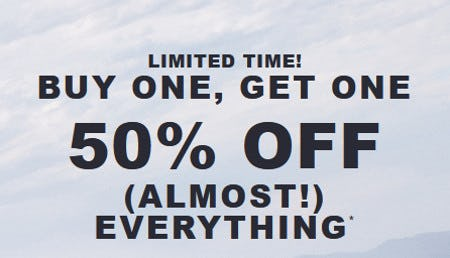Buy One, Get One 50% Off (Almost) Everything from Hollister Co.