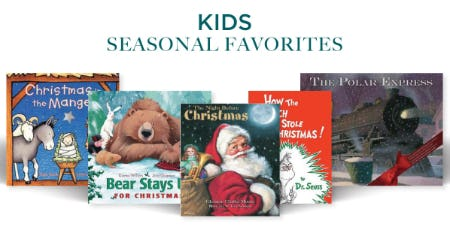 Kids Seasonal Favorites from Books-A-Million