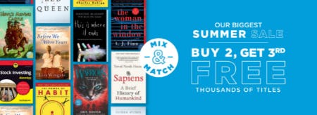 Buy 2, Get 3rd Free on Thousands of Titles from Books-A-Million
