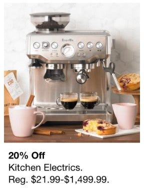 20% Off Kitchen Electrics
