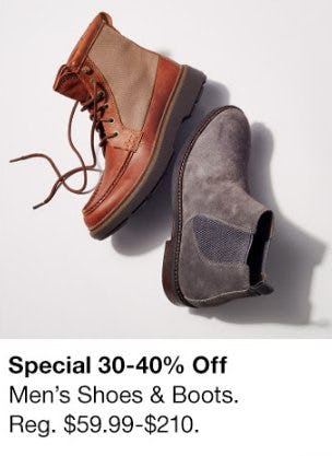 30-40% Off Men's Shoes & Boots