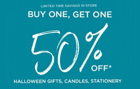 BOGO 50% Off Halloween Gifts, Candles and Stationery from PAPYRUS