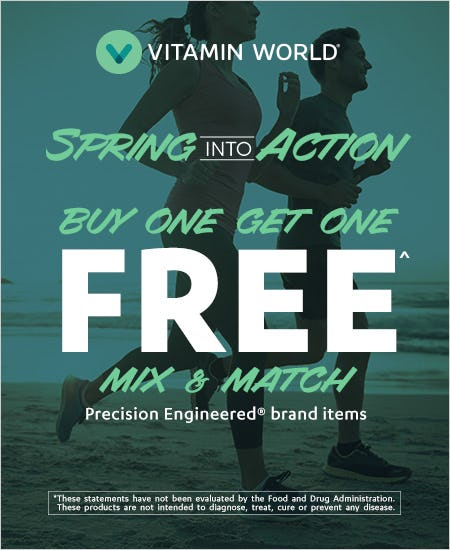 Buy One Get One Precision Engineered Items from Vitamin World