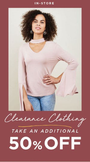 Extra 50% Off Clearance Clothing from Earthbound Trading Company