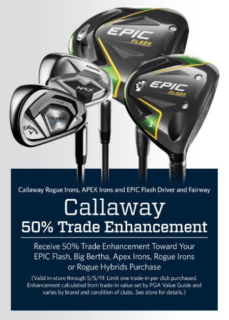 50% Trade Enhancement from Golf Galaxy
