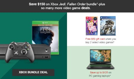Save $150 on Xbox Bundle Deal