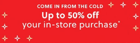 Up to 50% Off Your In-Store Purchase from J.Crew
