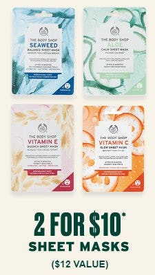 2 for $10 Sheet Masks from The Body Shop