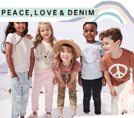 Peace, Love & Denim from Cotton On Kids
