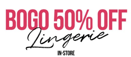 BOGO 50% Off Lingerie from Spencer's Gifts