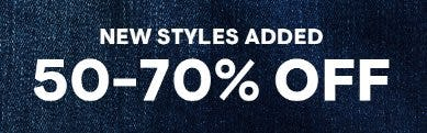 50-70% Off Select Styles