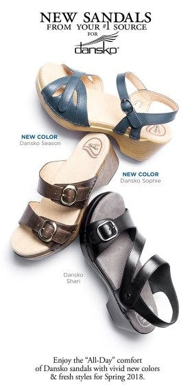 Shop New Dansko Sandals from THE WALKING COMPANY