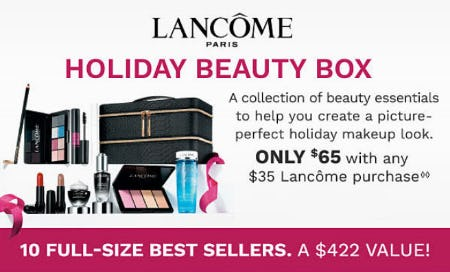 $65 Holiday Beauty Box with Lancôme Purchase from Belk