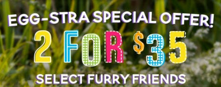 2 For $35 Select Furry Friends from Build-A-Bear Workshop
