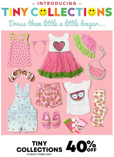 Tiny Collections 40% Off from The Children's Place