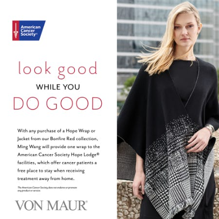 Ming Wang Hope Wrap Giveback Event from Von Maur