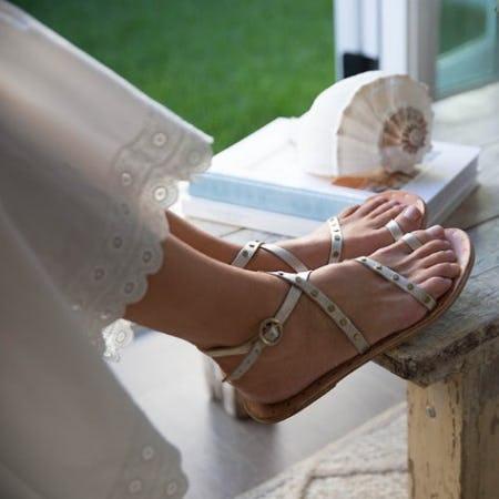 Lorikeet Studded Strappy Flat Sandal