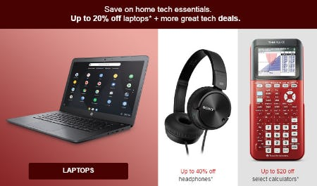 Up to 20% Off Laptops & More Great Tech Deals from Target