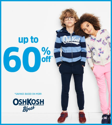 Up to 60% Off Entire Store from Oshkosh B'gosh