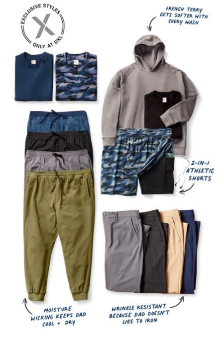 Exclusive Styles from Society of One for your One and Only Dad from Dxl Mens Apparel