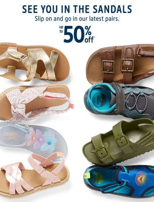 Up to 50% Off Sandals from Oshkosh B'gosh