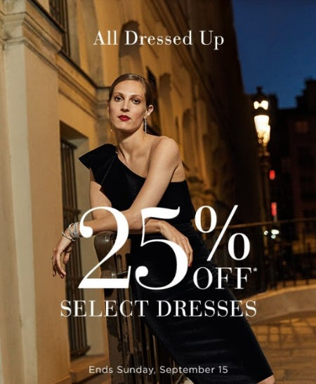 25% Off Dresses from Saks Fifth Avenue