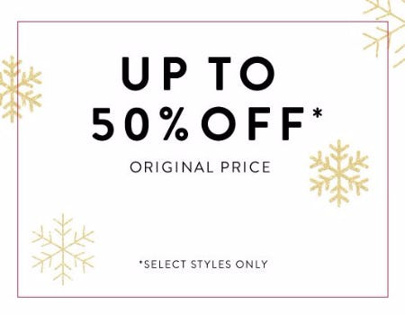 Up to 50% Off Original Price