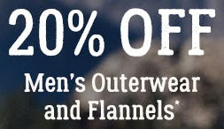 Men's Outerwear and Flannels 20% Off from Boot Barn Western And Work Wear