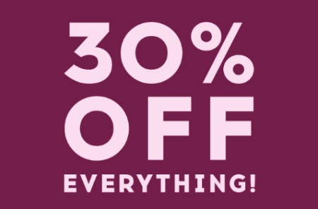 30% Off Everything from Justice