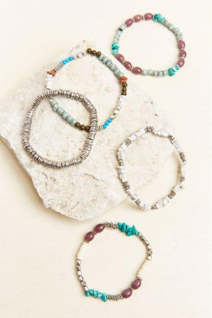 Teal and Purple Bracelet Set