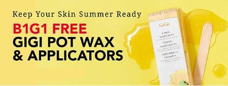 B1G1 Free Gigi Pot Wax & Applicators