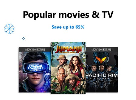 Save Up to 65% on Popular Movies & TV from Microsoft