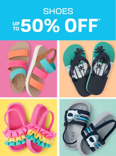 Shoes up to 50% Off from The Children's Place