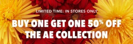 Buy One, Get One 50% Off the AE Collection from American Eagle Outfitters