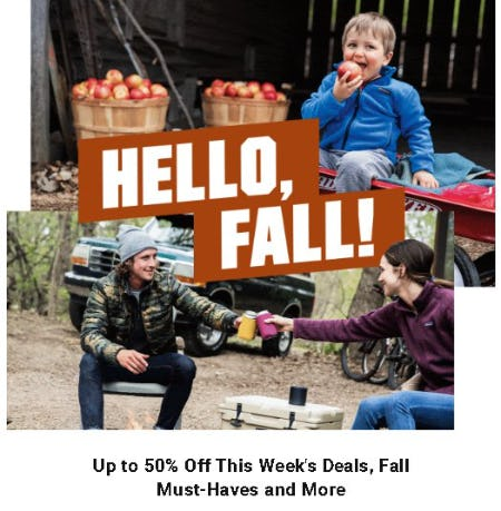 Up to 50% Off this Week's Deals, Fall Must-Haves and More