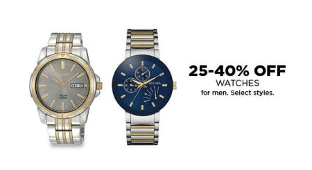 25-40% Off Watches