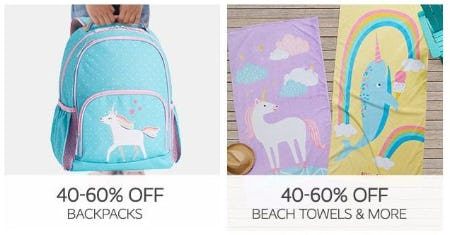 40–60% Off Backpacks & Beach Towels & More from Pottery Barn Kids