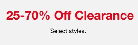 25-70% Off Clearance from Macy's