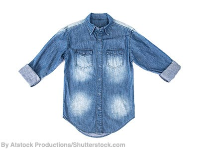 Children's denim shirt.