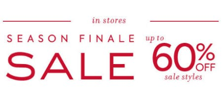 Up to 60% Off Season Finale Sale