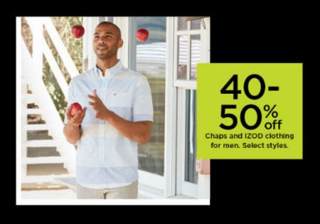 40-50% Off Chaps & IZOD Clothing for Men from Kohl's