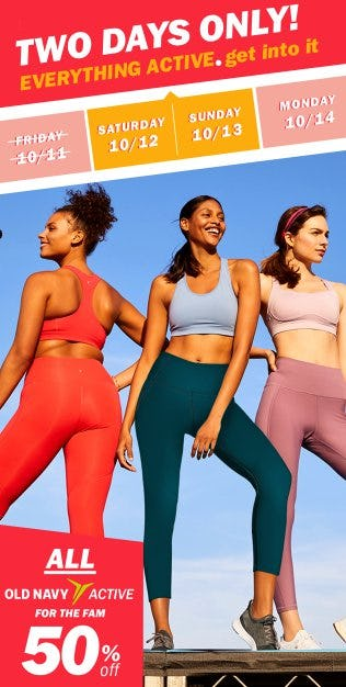All Old Navy Active 50% Off from Old Navy
